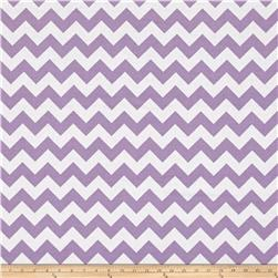 "Riley Blake 108"" Wide Medium Chevron Lavender"