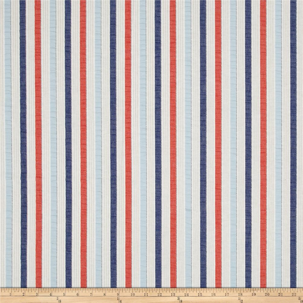 P Kaufmann Lavallette Seersucker Stripe Nautical