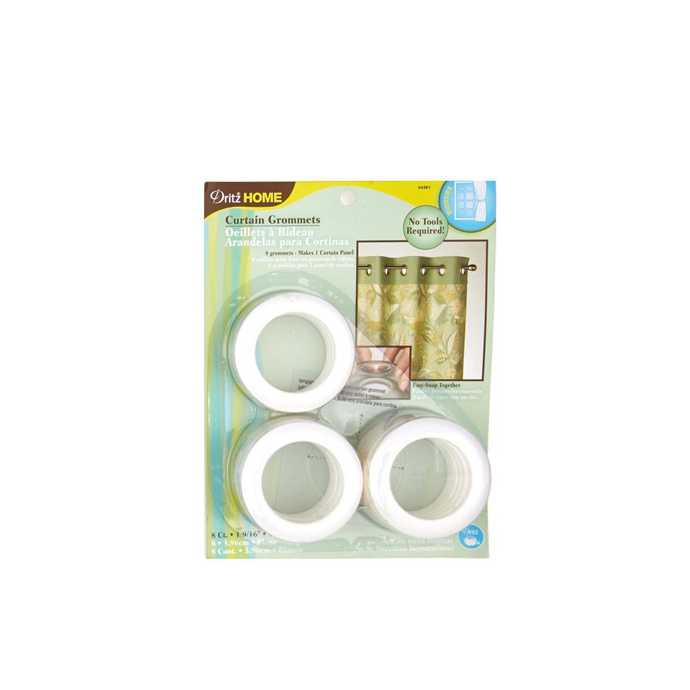 Curtain Grommets 8 Pack White 1 - 9/16''