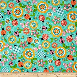 My Lil Lady Bug Florals Mint