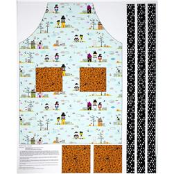 Riley Blake Halloween Magic Apron Panel Blue Fabric