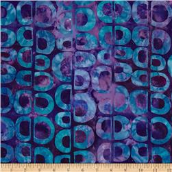 Artisan Batiks Pop Op Circle Stripe Jewel Purple