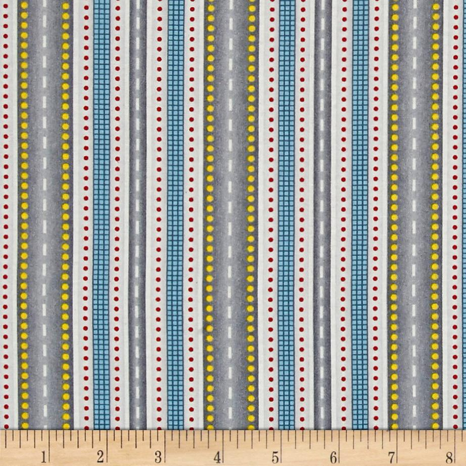 Blue and grey children juvenile quilting fabric shop for Grey childrens fabric