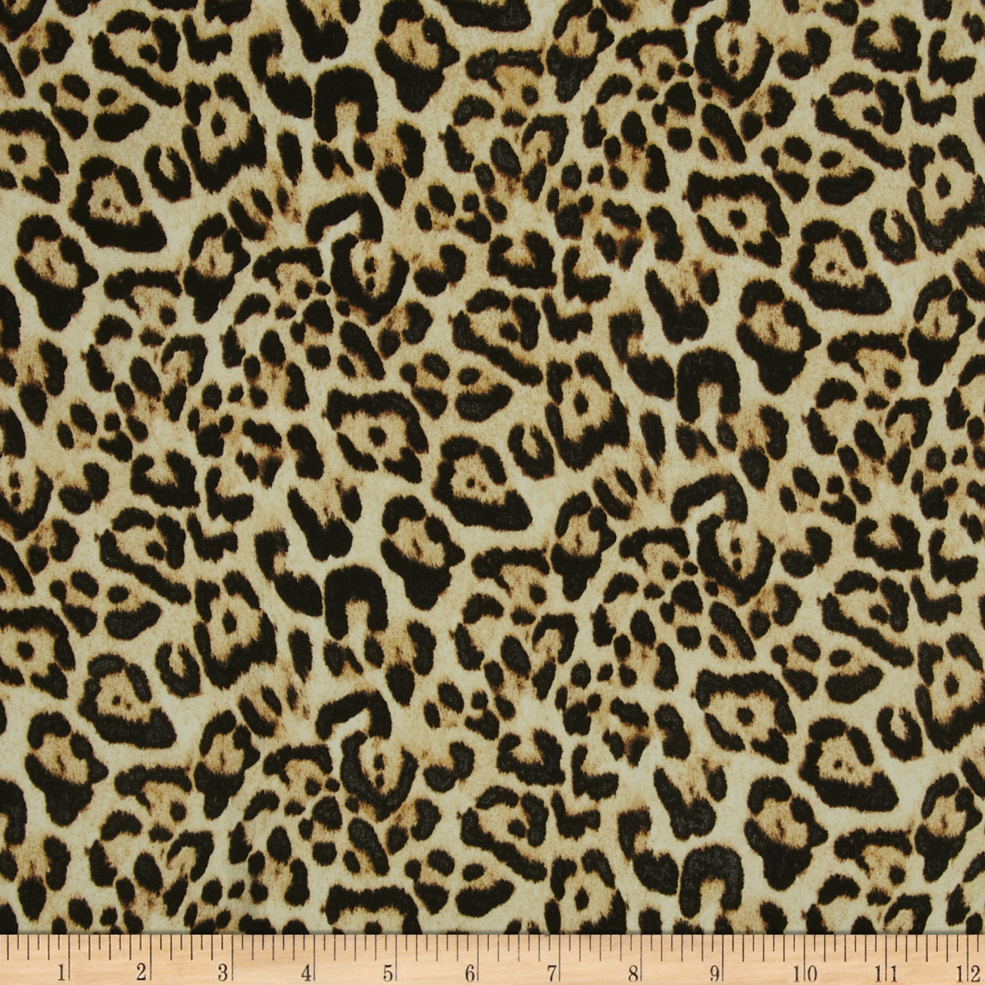 Isabella Satin Leopard Gold/Black Fabric