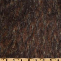 Faux Fur Spotted Wolf Brown/Beige Fabric