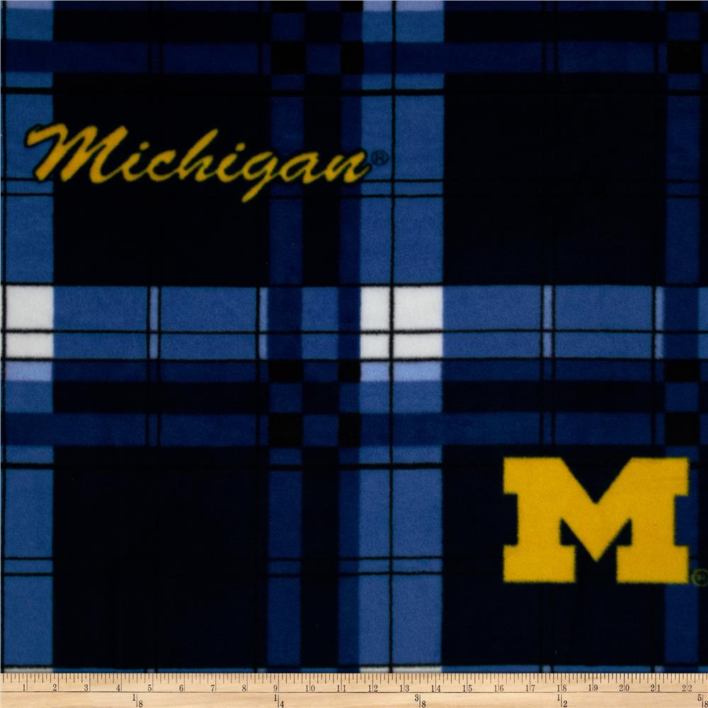 University of Michigan Fleece Plaid Blue