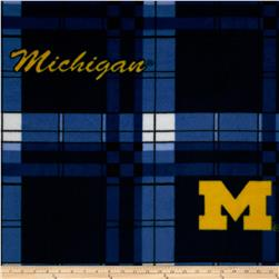 Collegiate Fleece University of Michigan Camo Plaid