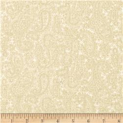 Baroque 108' Wide Quilt Backing Paisley Cream