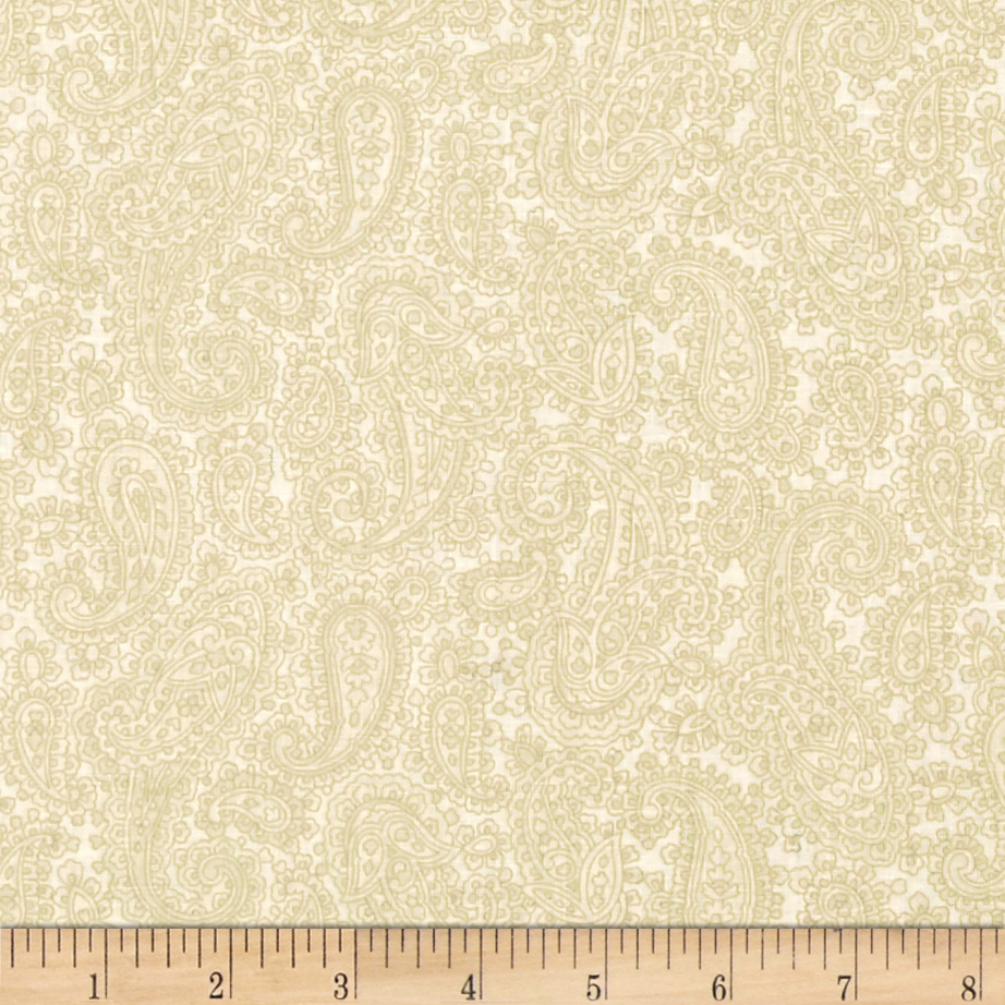 Baroque 108' Wide Quilt Backing Paisley Cream Fabric