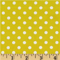 Michael Miller Citron Gray Dumb Dot Citron Fabric
