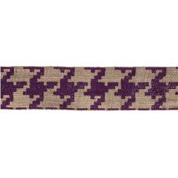 "2 3/8"" Burlap Trim Houndstooth Purple"