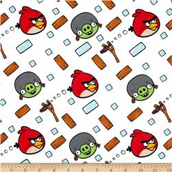Angry Birds Flannel Bounce White Fabric