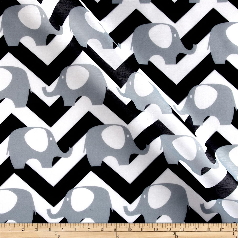 RCA Ella Chevron Sheers Black/White Fabric By The Yard