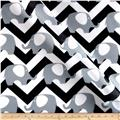 RCA Ella Chevron Sheers Black/White