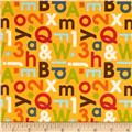 Riley Blake School Days Alphabet Yellow