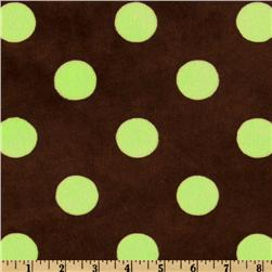 Minky Jumbo Dot Cuddle Brown/Lime