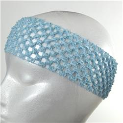 2 3/4'' Crochet Headband Baby Blue