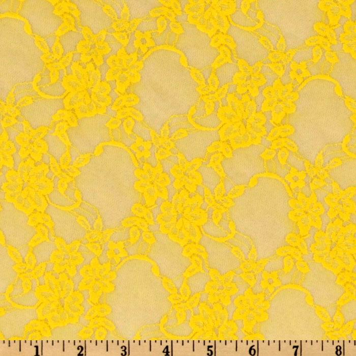 Giselle Stretch Floral Lace Yellow