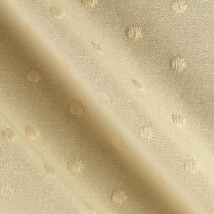 Kaufman Rebecca Embroidered Poplin Polka Dot Natural