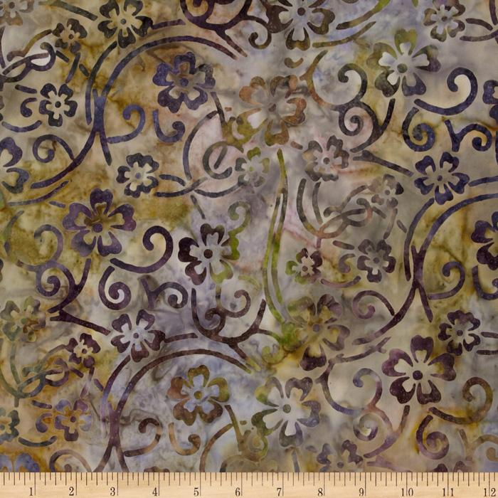 Artisan Batik: Enchanted Floral Scroll Garden
