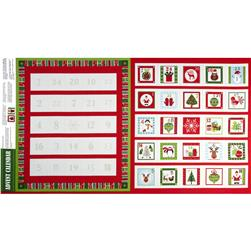 Christmas 2014 Panels Novelty Advent Calendar Panel Cream
