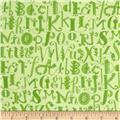Flannel Alphabet Tonal Green
