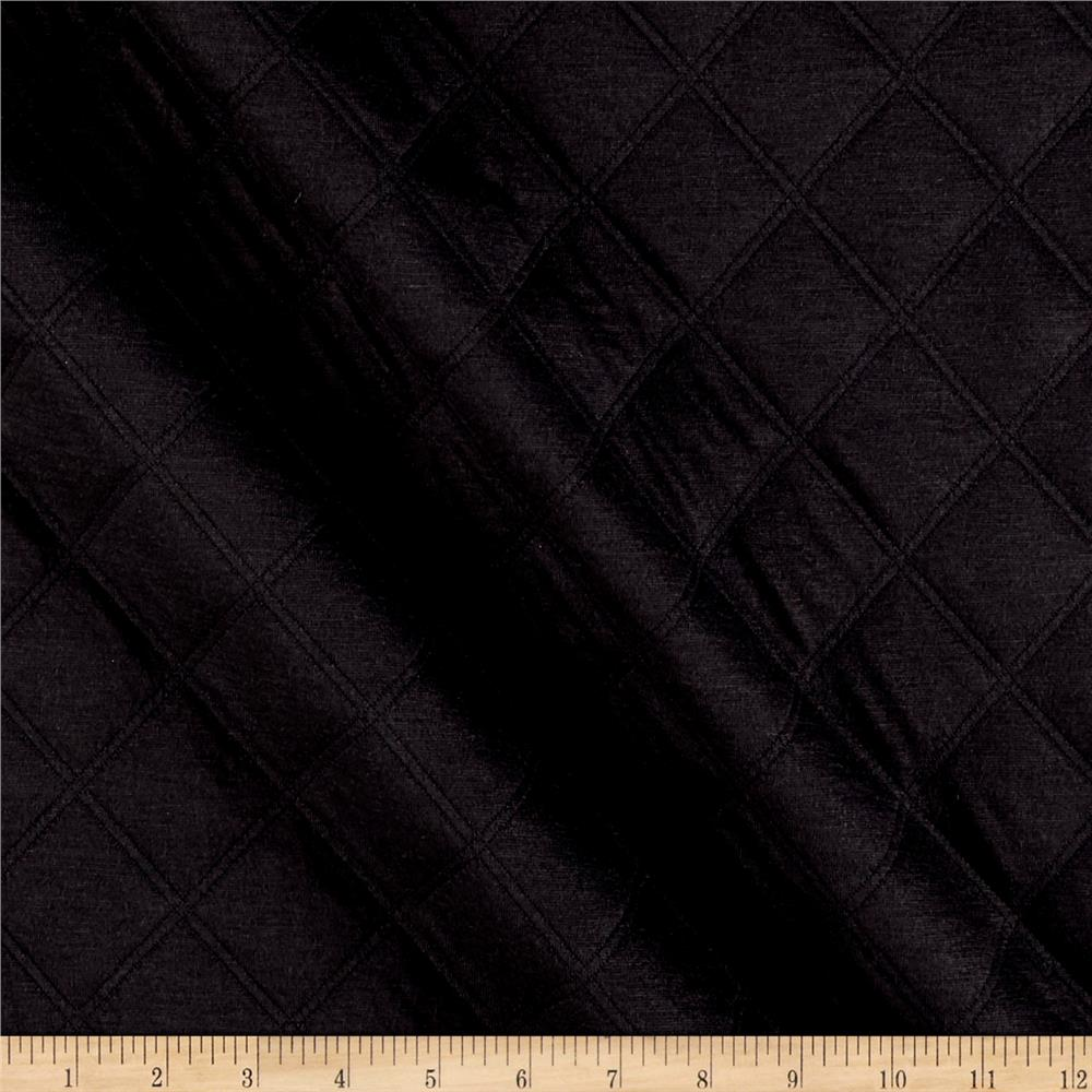 Quilted Double Knit Black