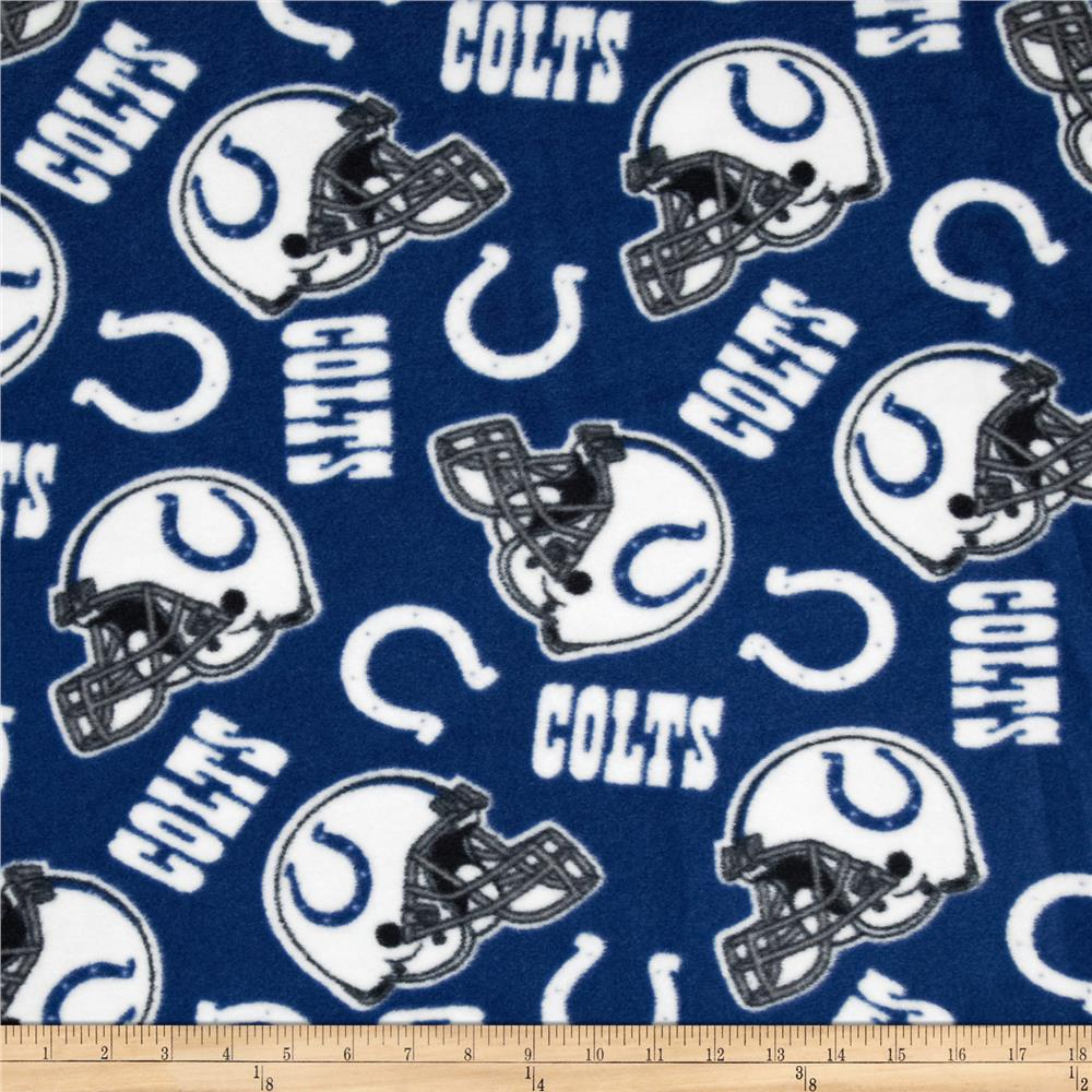 NFL Fleece Indianapolis Colts Blue/White Fabric