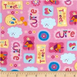 Baby Tweety Flannel Cutie Light Pink/Multi Fabric