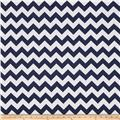 "Riley Blake 108"" Wide Medium Chevron Navy"