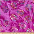 Indian Batik Burnout Daisy Purple