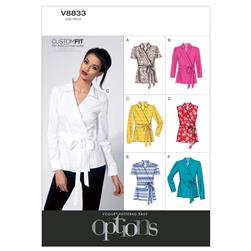 Vogue Misses' Blouse Pattern V8833 Size B50