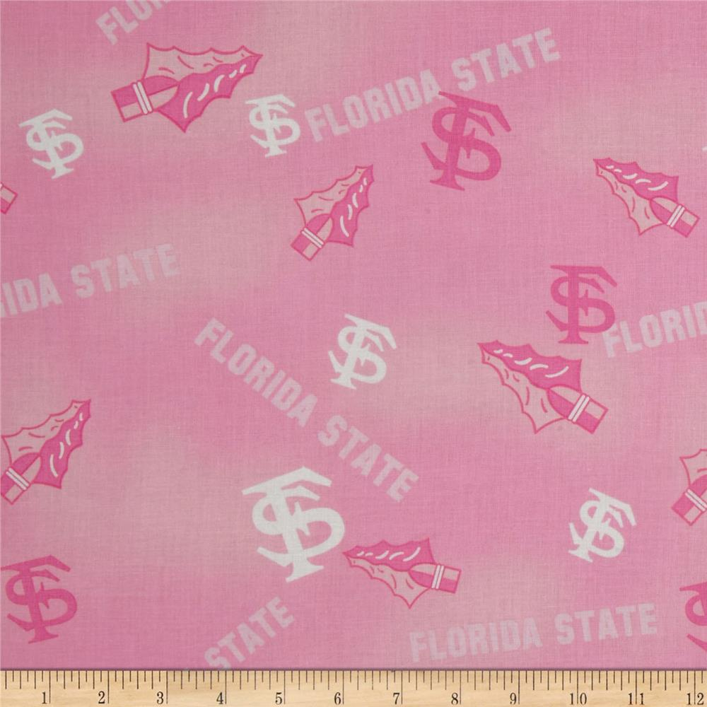 Collegiate Cotton Broadcloth Florida State Pink