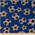 Fleece Prints Soccer Royal