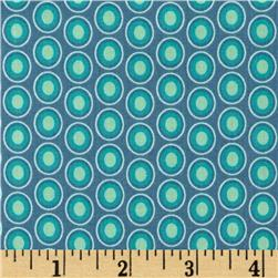 Art Gallery Elements Oval Vintage Blue Fabric