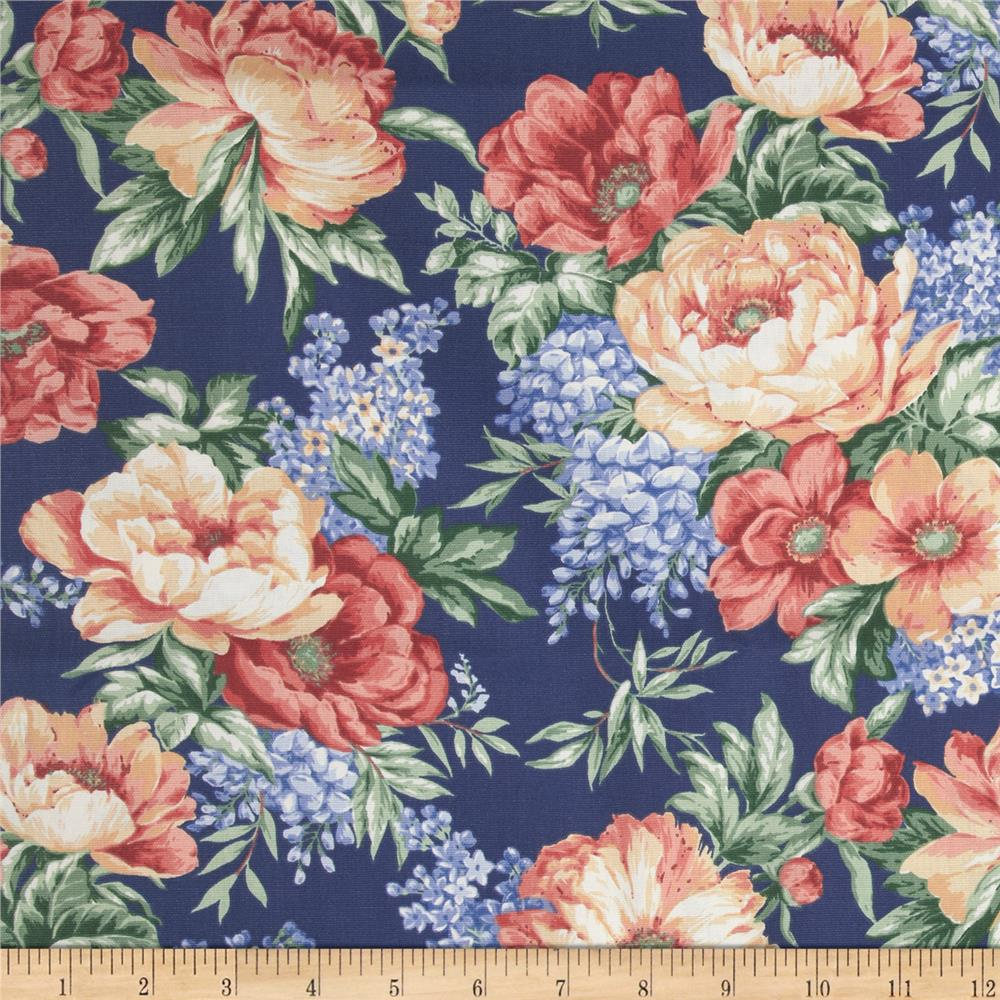 Georgette Home Decor Floral Navy