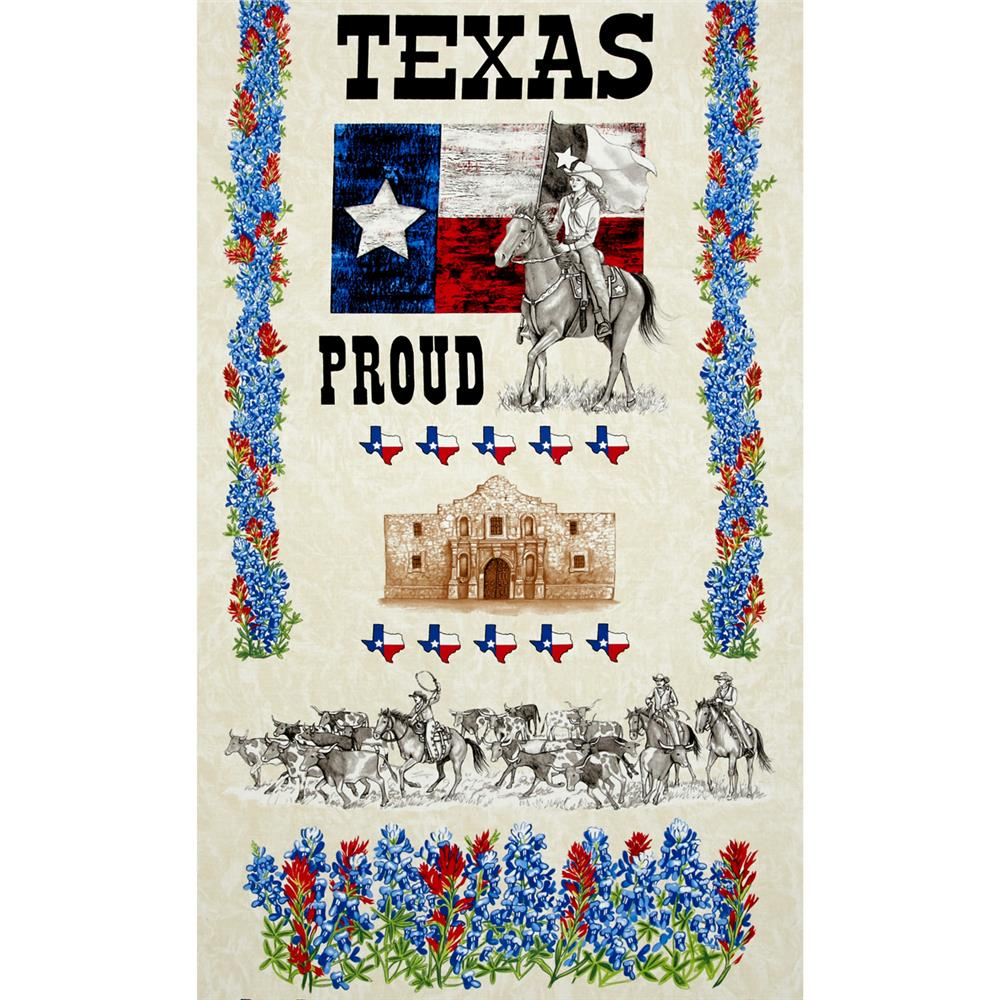 Moda Texas Proud 24 In. Panel Cream