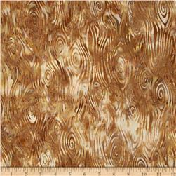 Bali Batiks Wood Grain Gold