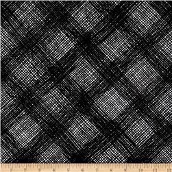 Michael Miller Black & White Bias Weave Black
