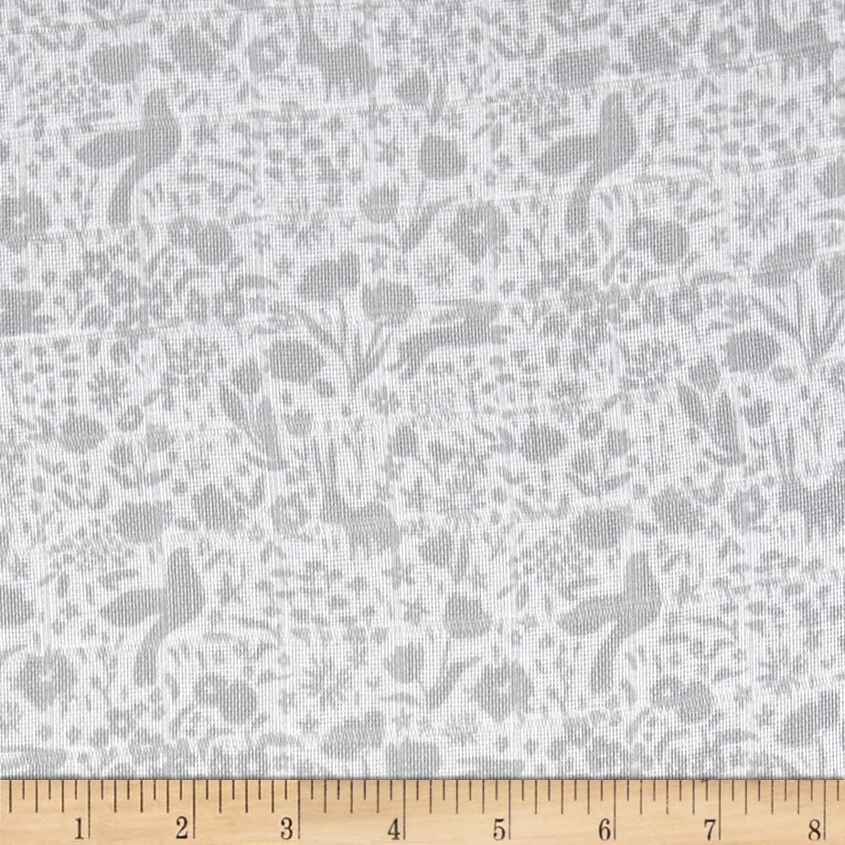 Michael Miller Sommer Double Gauze Shadow Garden Gray
