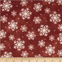Wonder of Winter Snowflakes Red Fabric