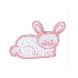 Boutique Applique Bunny White/Pink