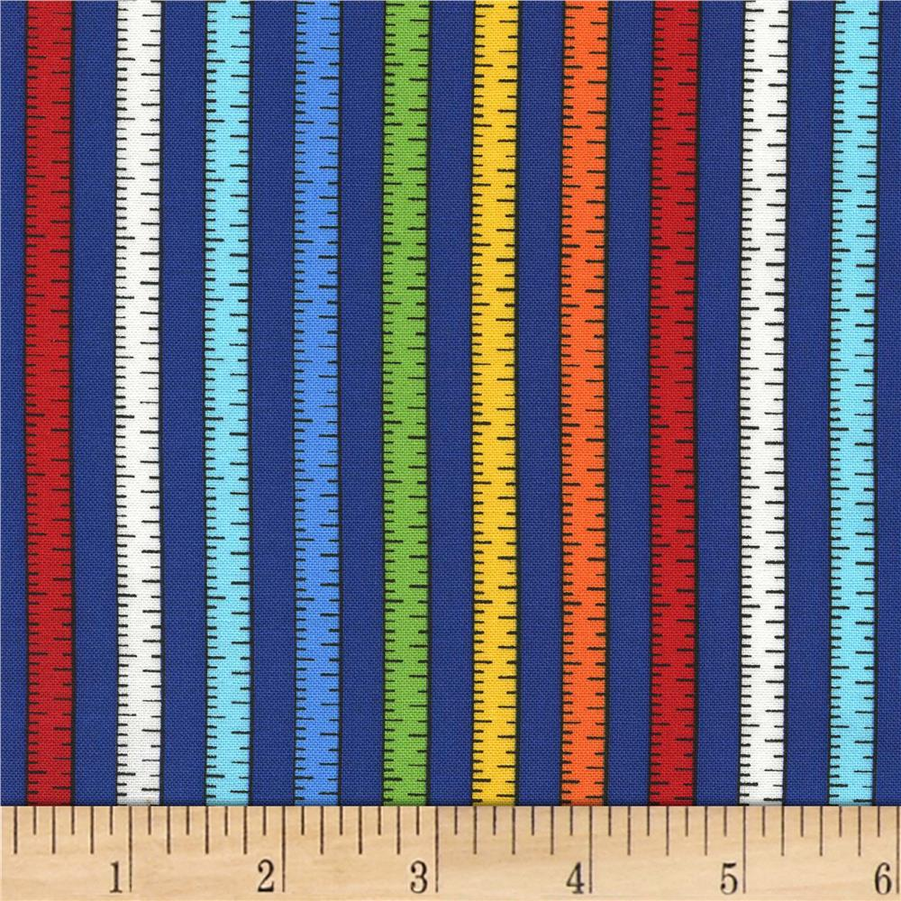 Michael Miller Tools Of The Trade Measure Up Blue