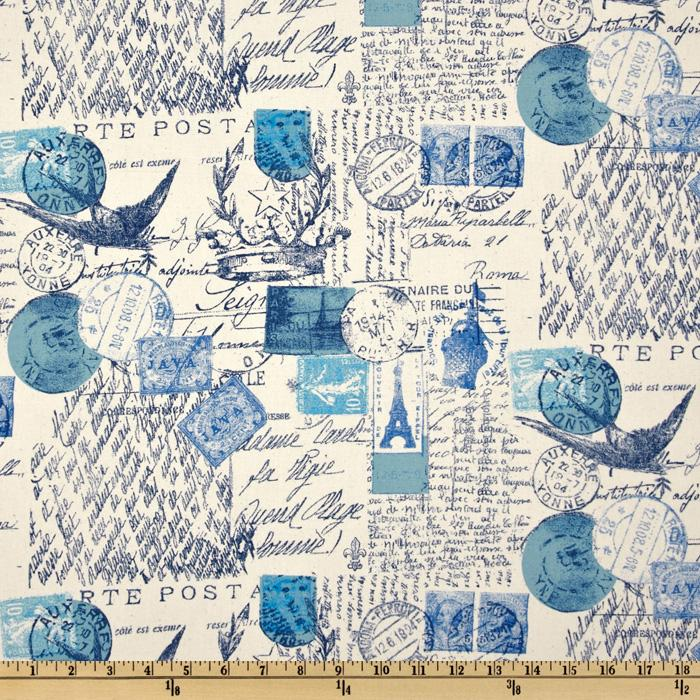Premier Prints Amore Arctic Blue/Natural