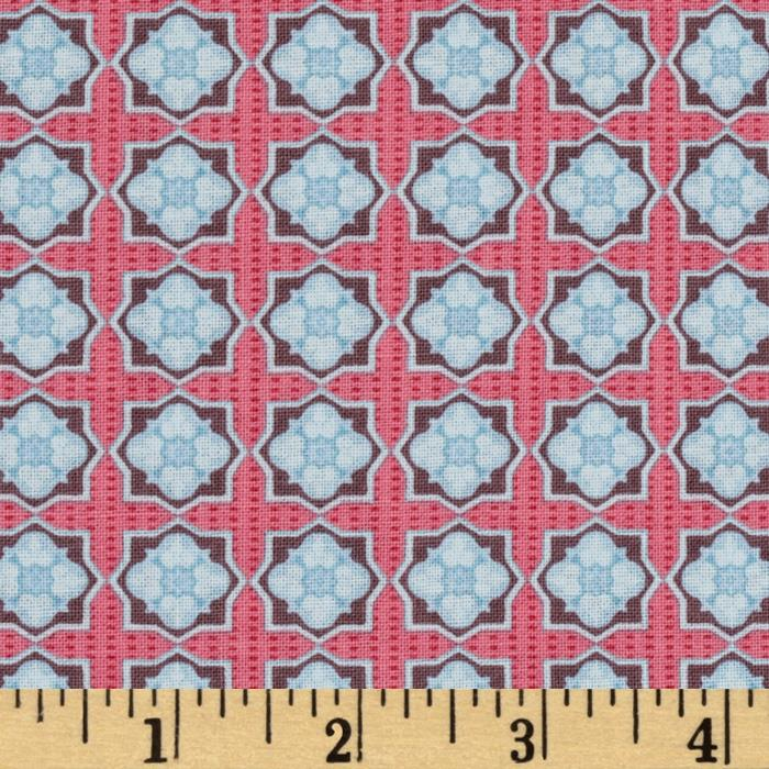 Homespun Chic Medium Geometric Shapes Pink/Lt Blue