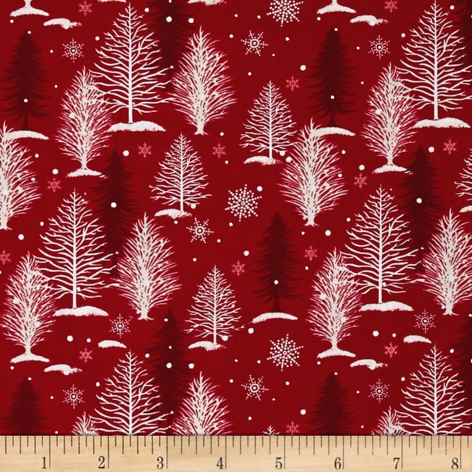 A Christmas To Remember Tree Allover Red