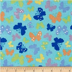 Pretty Wings Flannel Turquoise