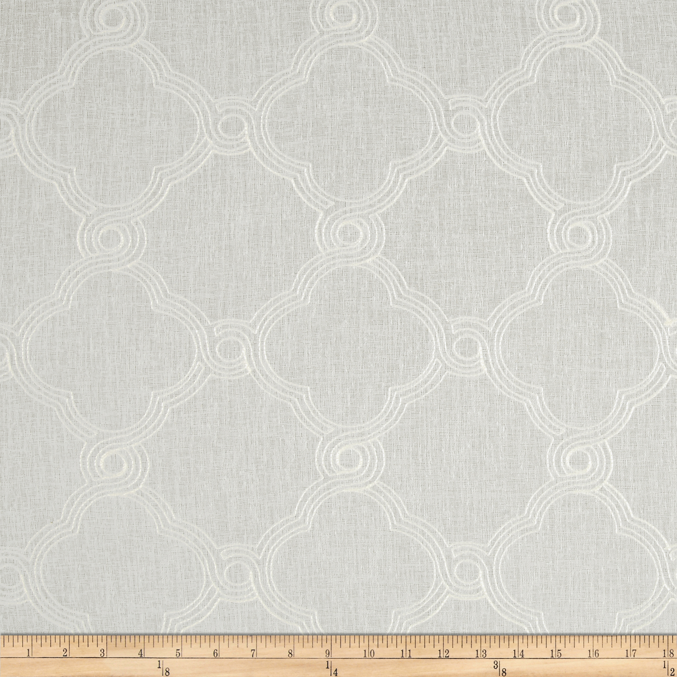 World Wide Faux Linen Sheer Eva White