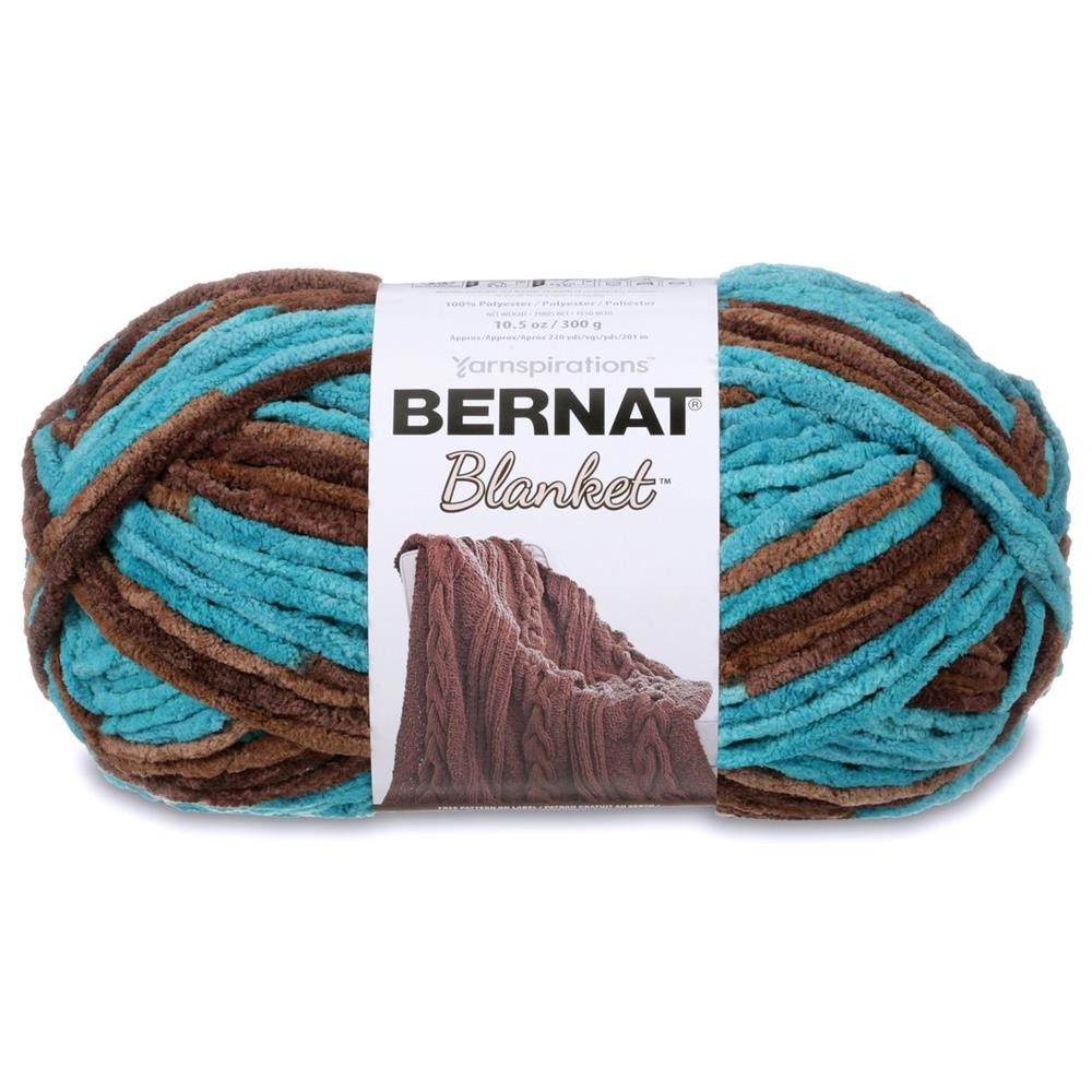 Crochet Patterns Bernat Blanket Yarn : Bernat Blanket Big Ball Yarn (10203) Mallard Wood - Discount Designer ...