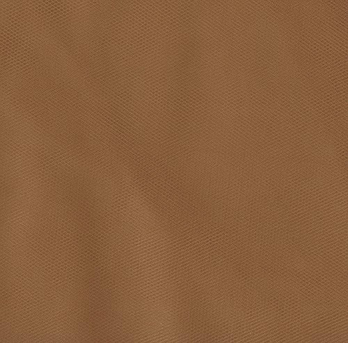 108'' Wide Nylon Tulle Antique Gold Fabric
